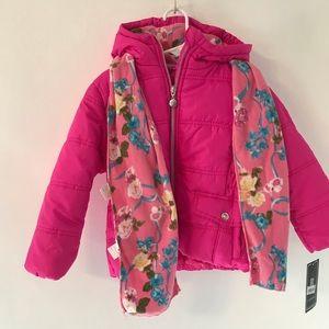 S. Rothschild Pink Puffer Jacket 4T